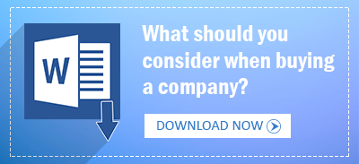 What should you consider when buying a company?
